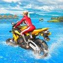 acqua surfer corsa in Moto