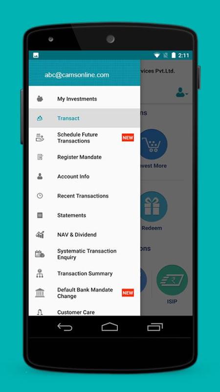 myCAMS Mutual Fund App screenshot 1