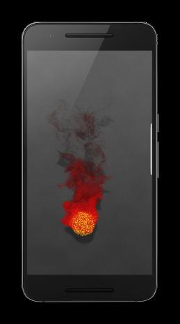 S8 Color Burst Particles Nougat 3d Live Wallpaper 1022