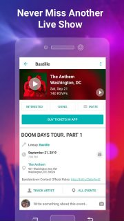 Bandsintown Concerts screenshot 2