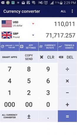 convertidor de divisas captura de pantalla 2