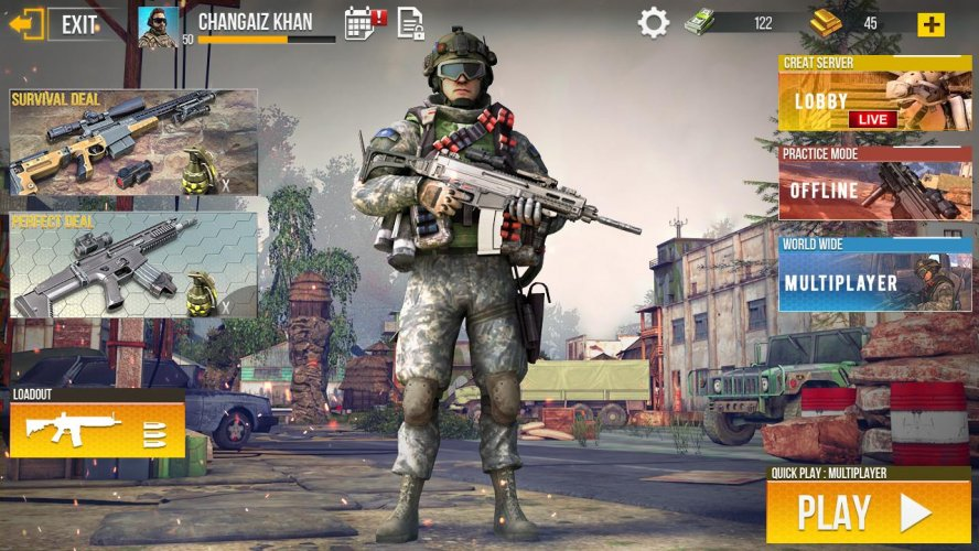 3d army shooting games free download