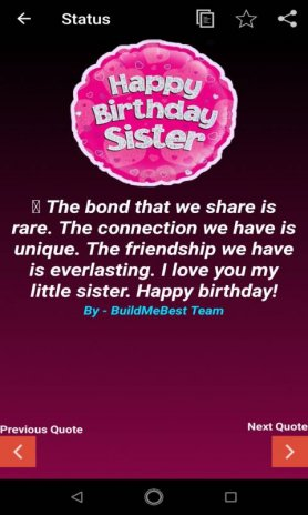 Birthday Wishes for Sister, Quotes, Greeting Cards 1.6 ...