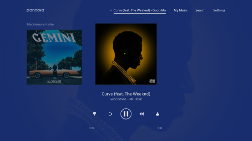 Pandora Music for TV screenshot 1