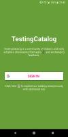 Beta TestingCatalog Screen