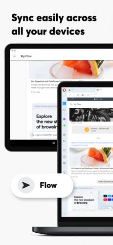 Opera Browser: Fast & Private screenshot 1
