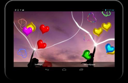 Neon Hearts live wallpaper screenshot 2