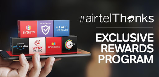 Airtel Thanks - Recharge, Bill Pay, Bank, Live TV 4 4 11 3