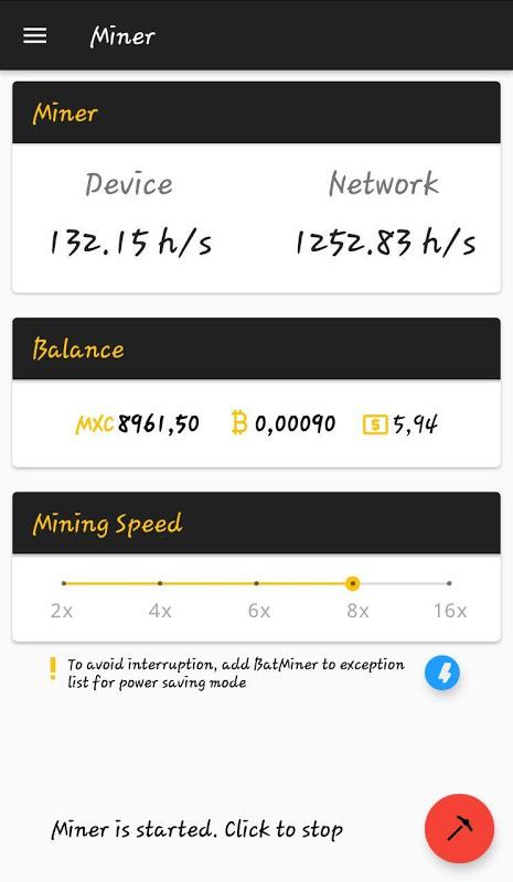 BatMiner - Mobile Mining Farm screenshot 1