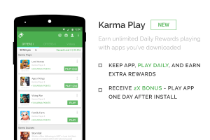 appKarma Rewards & Gift Cards Screen