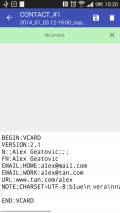 Contactos VCF Screenshot