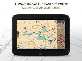 TomTom GPS Navigation Traffic Screenshot