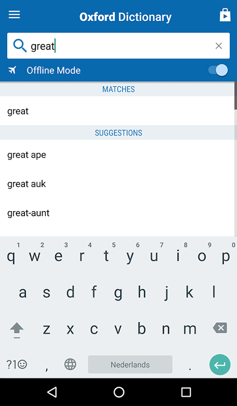 Concise Oxford English Dictionary screenshot 2