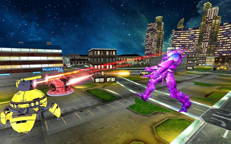 Futuristic Bad Bots: Flying Robot Car Transform 1 3 Download