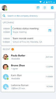 Skype for Business for Android screenshot 13