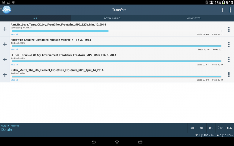 Frostwire Plus Youtube Downloader Torrent Client 1 7 3 Download Android Apk Aptoide