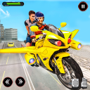 Real Flying Bike Taxi Simulator: Bike Driving Game
