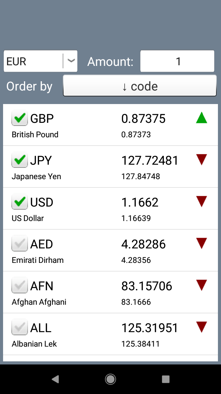 Currency Converter. Exchange rates and calculator screenshot 2