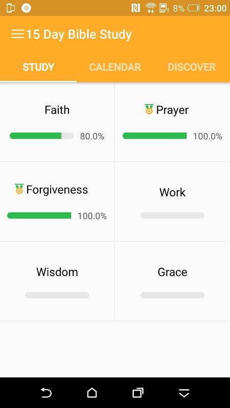 30 Day Bible Study Challenge - Offline Bible Study screenshot 1