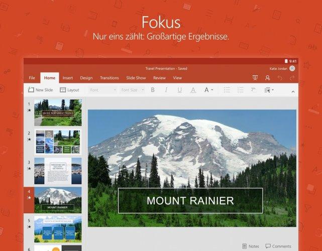 Microsoft PowerPoint: Präsentationsfolien screenshot 8