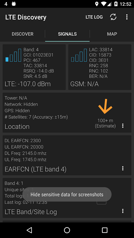 LTE Discovery screenshot 1