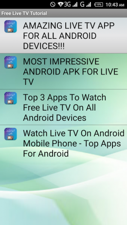 Free Live TV Tutorial / Review 1 0 Download APK for Android