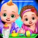 Princess Mom Dad & Newborn Twins Babies Care Games