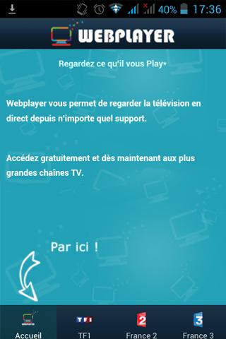 webplayer pour voir vos video