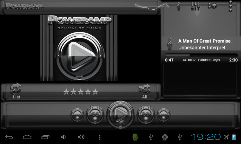 Poweramp skin Black Glas delux 3 12 Download APK for Android