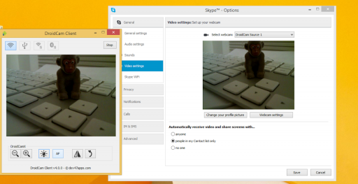 DroidCam Wireless Webcam screenshot 1