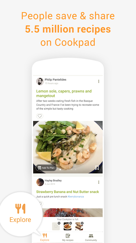Cookpad - Create your own Recipes screenshot 1
