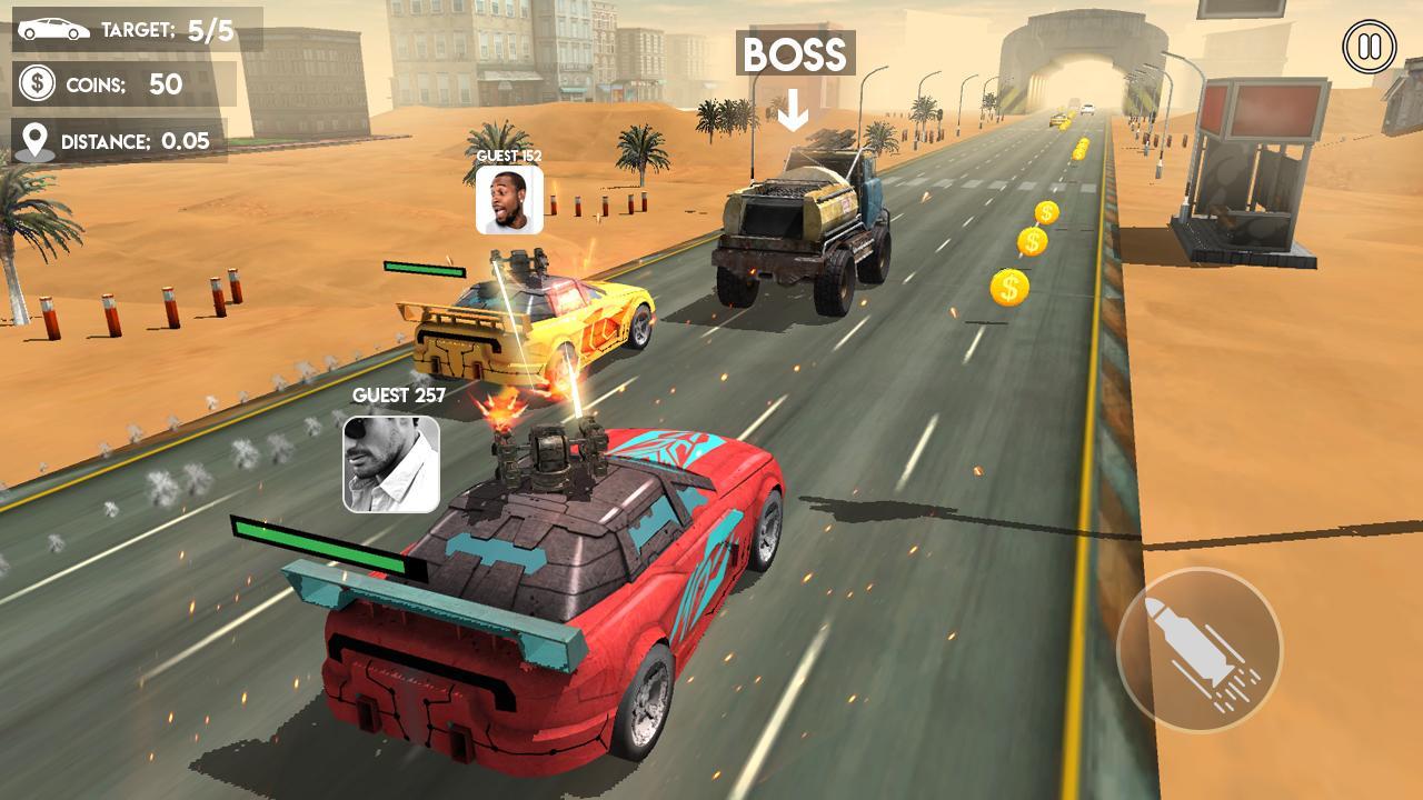 Death Race Road Battle screenshot 1