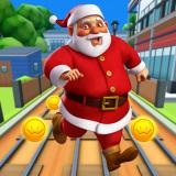 Subway Santa Xmas Run Icon
