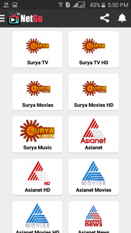 NetGo TV - Live TV | Sports | Movies | Music 8 0 Download APK for