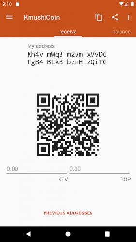 Kmushicoin Wallet screenshot 4