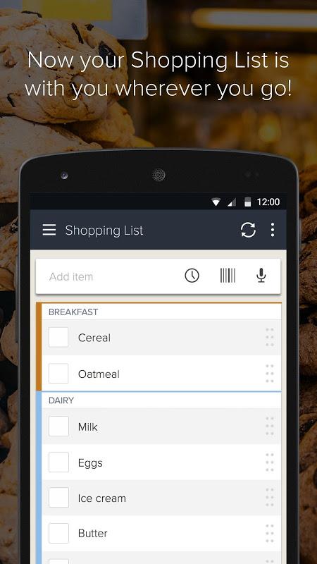 Out of Milk Listas de Compras screenshot 1
