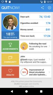 QuitNow! Quit smoking screenshot 1