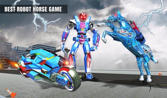 US Police Horse Robot Bike Transform Wild Cop Game 1 0
