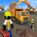 Stickman  City  Construction  Excavator