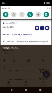 Bluelight Filter for Eye Care - Auto screen filter screenshot 2
