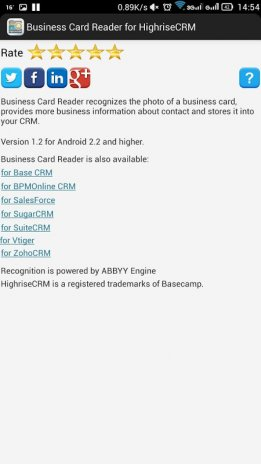 Business card reader for highrise crm 11131 download apk for business card reader for highrise crm screenshot 8 reheart Choice Image