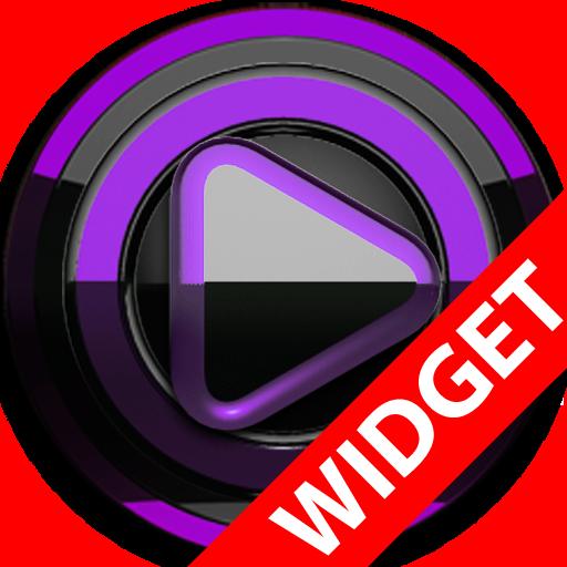 Poweramp widget - BLACK Purple