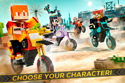 Dirtbike Survival Block Motos screenshot 11