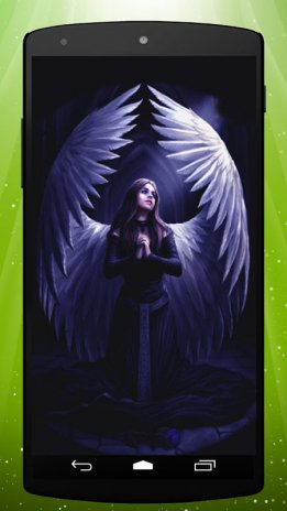 80 Black Angel Live Wallpaper Black Apk Download Oakland Raiders