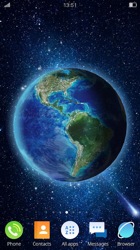 3D Earth Live Wallpaper screenshot 3