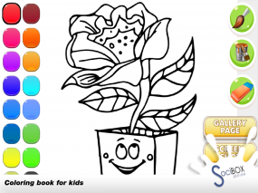 flower coloring book Screenshot