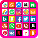 All social media and social networks in one app