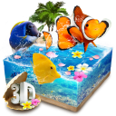Lively 3D Color Fish Theme