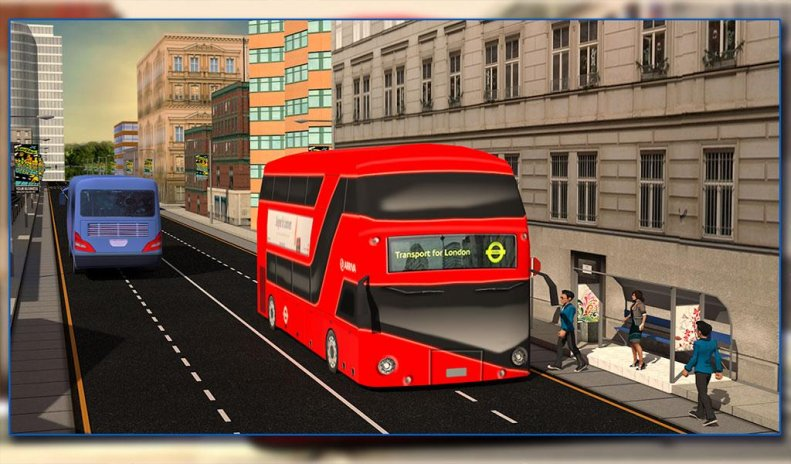 london city bus driving 3d