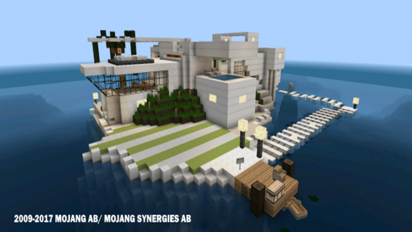 minecraft modern house download android